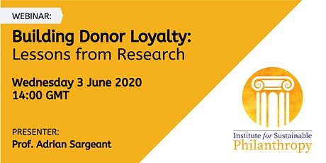 Webinar - Building Donor Loyalty: Lessons from Research tickets