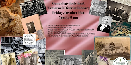 Genealogy Lock-in Rescheduled to October 16th tickets