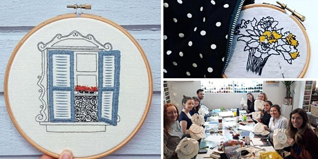 Embroidery - Make your own wall hanging tickets