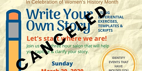 Write Your Own Story - CANCELED! tickets