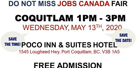 Free: Coquitlam Job Fair - May 13th 2020 tickets