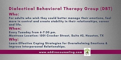Dialectical Behavioral Therapy Group (DBT)- Evening Group tickets
