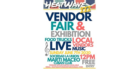 HeatWave III: Vendor Fair tickets