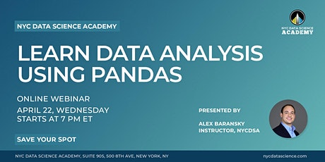 Online Workshop: Learn Data Analysis with Pandas | NYC Data Science Academy tickets