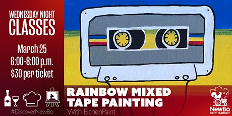Wednesday Class: Rainbow Mixed Tape Painting tickets