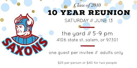 SSHS Class of 2010 Reunion  tickets