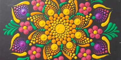 TEMPORARILY POSTPONED Mandala Bouquet Dot Painting at Brush & Cork