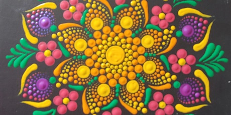 TEMPORARILY POSTPONED Mandala Bouquet Dot Painting at Brush & Cork tickets