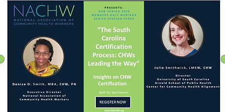 The South Carolina Certification Process: CHWs Leading the Way tickets