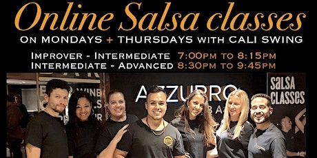 Online Cali Salsa Classes with Cali Swing tickets