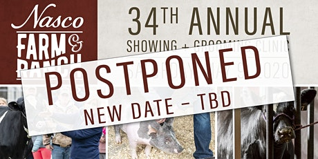 Nasco's 34th  Annual Showing & Grooming Clinic   *POSTPONED* New Date - TBD tickets