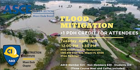 Flood Mitigation Luncheon | +1 PDH | CI ASCE tickets