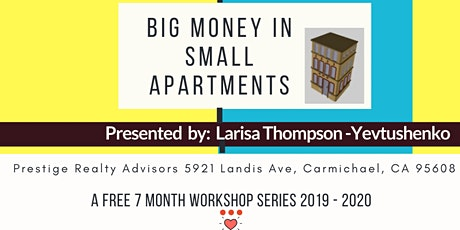 BIG Money in SMALL Apartments Workshop tickets