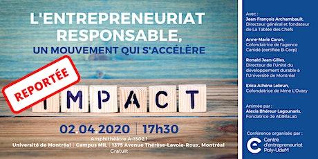 Conférence | L'entrepreneuriat responsable, un mouvement qui s'accélère billets