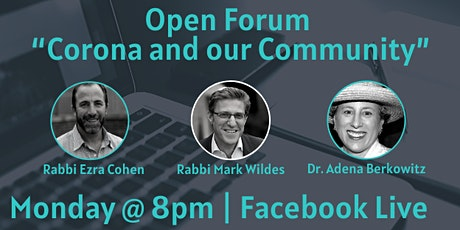 Facebook Live Open Forum with Rabbi Mark Wildes | 20s & 30s Mondays@8PM tickets