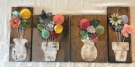 Wood Flower Wall Decor 8/16 tickets