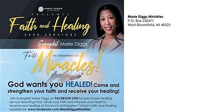 FAITH and HEALING SERVICES presented by Marie Diggs Ministries tickets