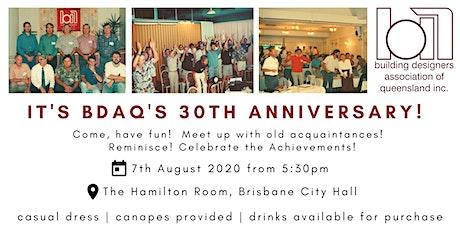 BDAQ 30th Anniversary tickets