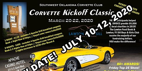 5th Annual SWOCC Corvette Kickoff Classic 2020 tickets