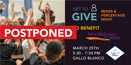 POSTPONED: GET to Give: NPFY Mixer & Percentage Night tickets