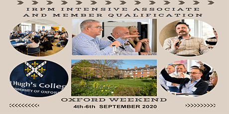 IRPM Associate and Member Qualification - Oxford Weekend tickets
