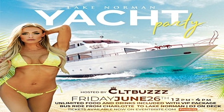 Lake Norman yacht party tickets
