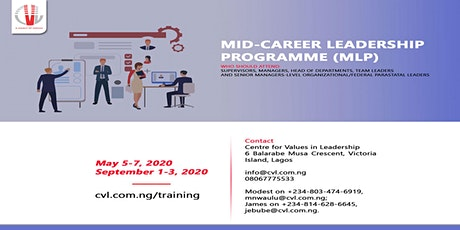 MID-CAREER LEADERSHIP PROGRAMME (MLP) tickets