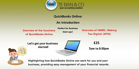 For future interest in: QuickBooks Online - 'An Introduction' Event tickets