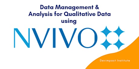 Training on Data Management and Analysis for Qualitative Data using NVIVO tickets