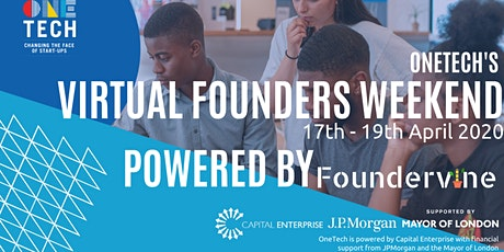 OneTech - Virtual Founders Weekend for 18 - 24 year olds tickets