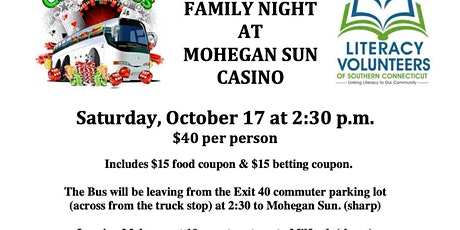 Casino Trip to Mohegan Sun Casino tickets
