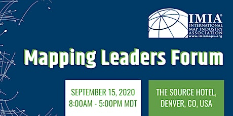 IMIA Denver Mapping Leaders Forum tickets