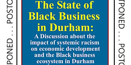 The State of Durham's Black Business Ecosystem - 10:00am - 12:00pm {6/18/2020}  tickets