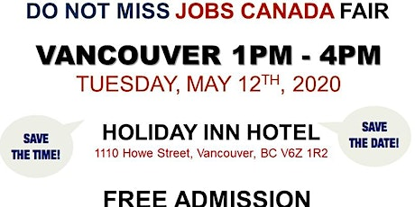 Vancouver Job Fair – May 12th, 2020 tickets