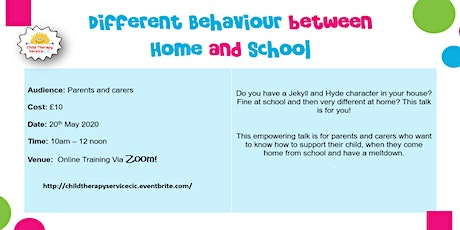 Different behaviour between school and home (online training) tickets