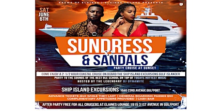 Sundress & Sandals Sunset party cruise tickets