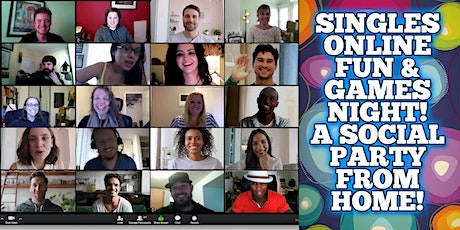 Seattle Singles Online Fun & Games Event - A Social Party From Home! tickets
