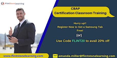 CBAP Classroom Training in New York, NY tickets