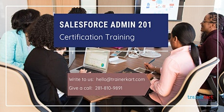 Salesforce Admin 201 4 day classroom Training in San Francisco Bay Area, CA tickets