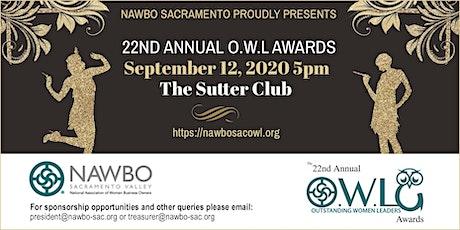 22nd Annual OWL Awards - NAWBO Sacramento Valley tickets