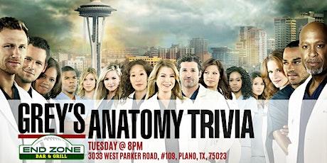 Grey's Anatomy Trivia at End Zone Plano tickets
