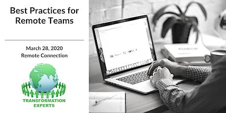 Workshop - Best Practices for Remote Teams tickets