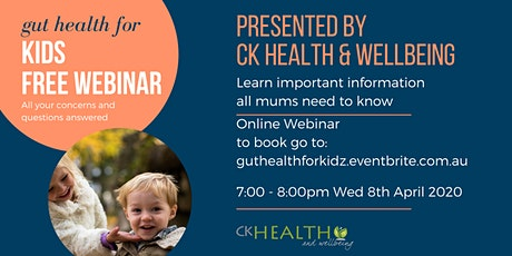 Gut Health For Kids-Online Event tickets