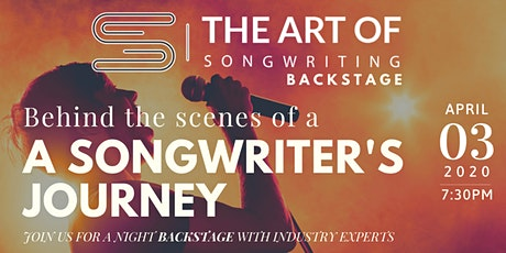 The Art of Songwriting: Backstage tickets