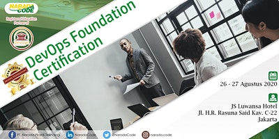 DevOps Foundation Training Jakarta, August 26th 2020
