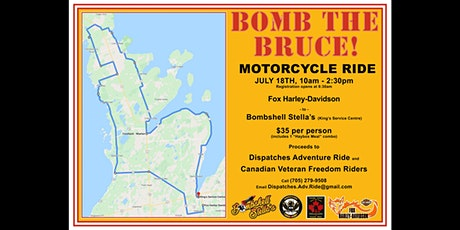 Bomb The Bruce Motorcycle Ride tickets