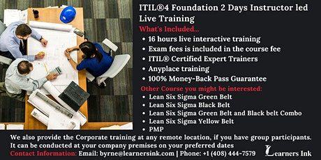ITIL®4 Foundation 2 Days Certification Training in Cedar Rapids tickets