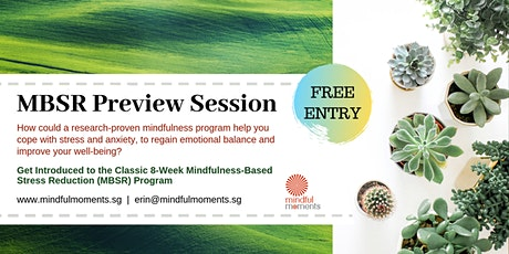 Mindfulness MBSR Preview: Saturday 30 May 2020 tickets