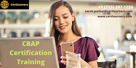 CBAP 3 Days Certification Training in Alameda, CA,USA tickets