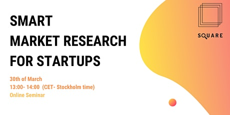 Smart Market Research for Startups tickets